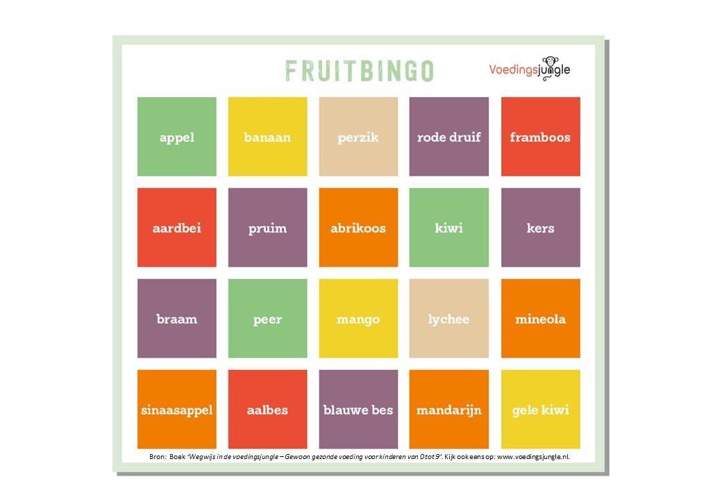 Fruitbingo Voedingsjungle